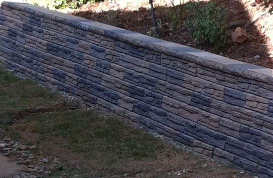 Concrete Block Retaining Walls Holding Back The Soil
