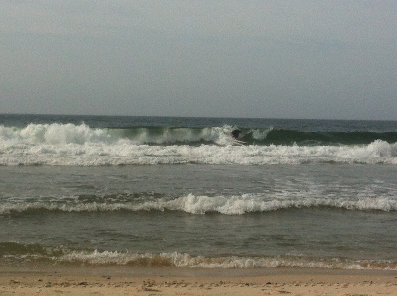 Surfing At Robert Moses Beach New York State Park