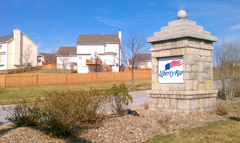 Liberty Run and Huntington Ridge subdivisions in Liberty MO in the northland of Kanas City