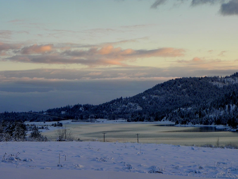 Pend Oreille River Winter