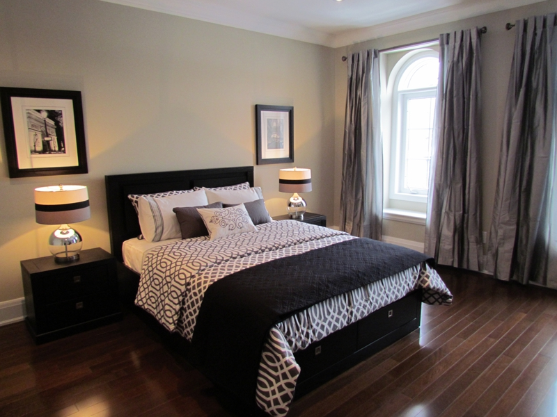 All i did was take it from construction zone to bedroom in paris Model home master bedroom decor