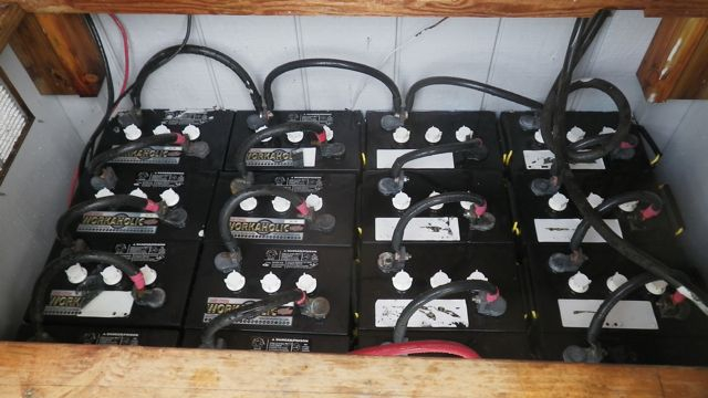 batteries for an off grid power system in Haiku Maui HI