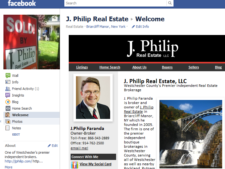 Facebook business page for J. Philip Real Estate