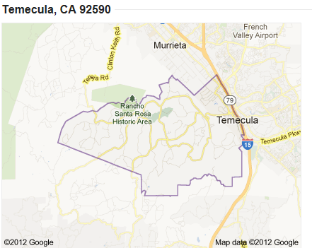 Temecula Ca Zip Code Map.Zip Code 92590 Map Search Homes For Sale Temecula