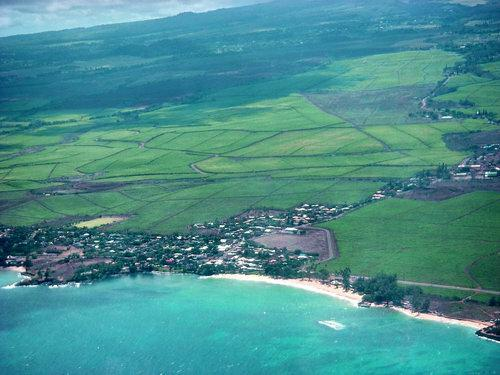 Paia Maui from the air