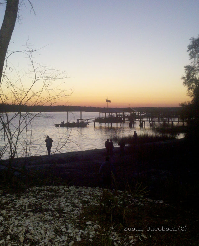 Sunset at oyster roast