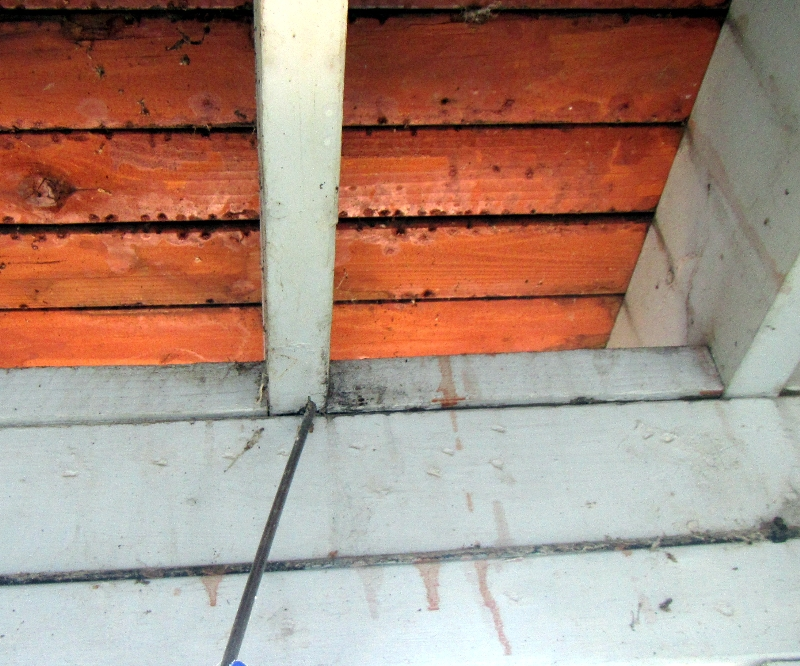 Joist rot from moisture Chelan Real Estate