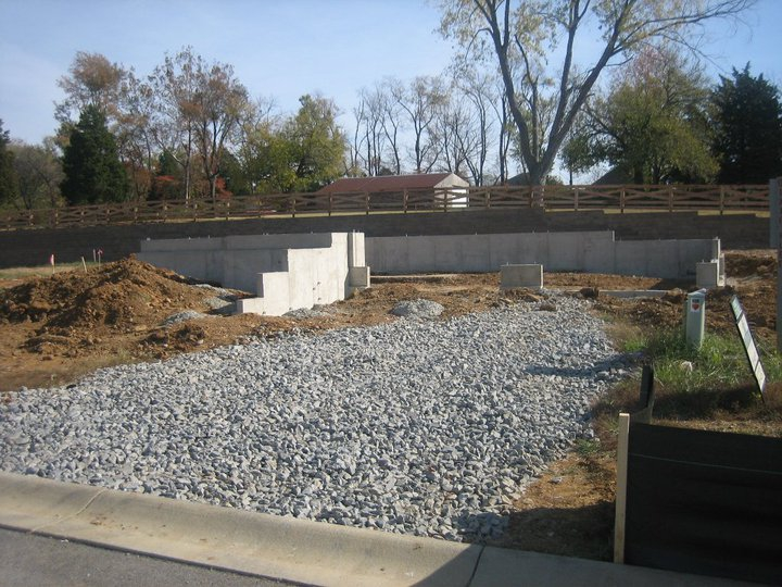 Real estate for sale in louisville ky home building for Poured concrete foundation