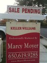 Marcy Moyer's Sale Pending Sign
