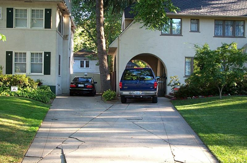 Home with shared driveway