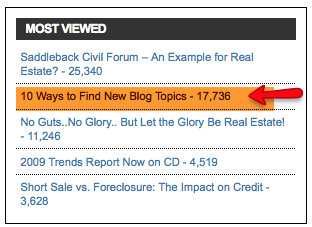 2nd most viewed post on RealBlogging.com