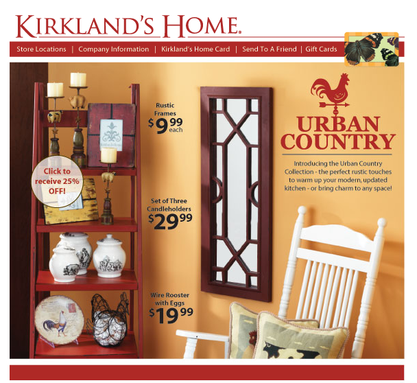 Urban Country decorKirklands new collection