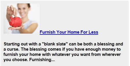 Furnish Your Home For Less