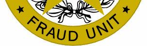 Fraud Unit Badge