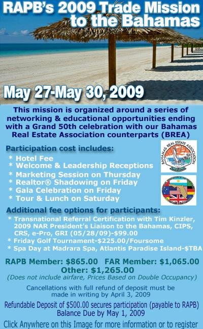 RAPB's 2009 Trade Mission to the Bahamas
