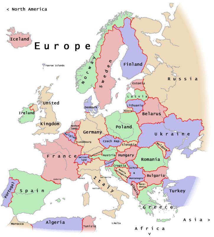 Modern Day Map Of Europe Papegaaienparadijs