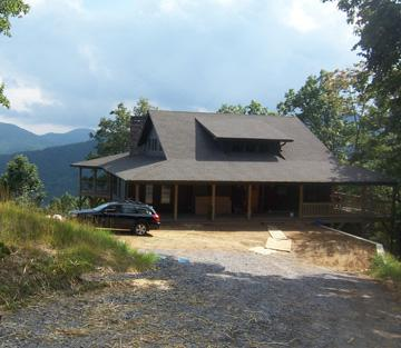 Asheville area eco-friendly home with view at CRESTON