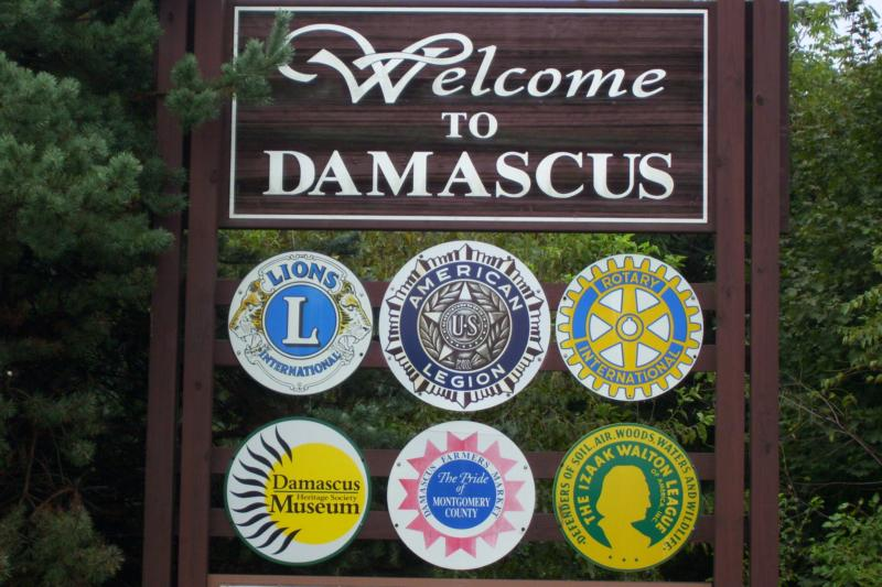 Damascus Md. - Community Sign