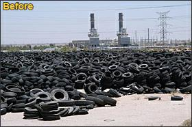 Turning Old Car Tires Into Roof Shingle Tiles Made Of