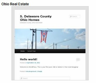 Hello World a new Ohio Real Estate site