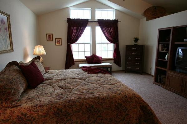 after staged bedroom