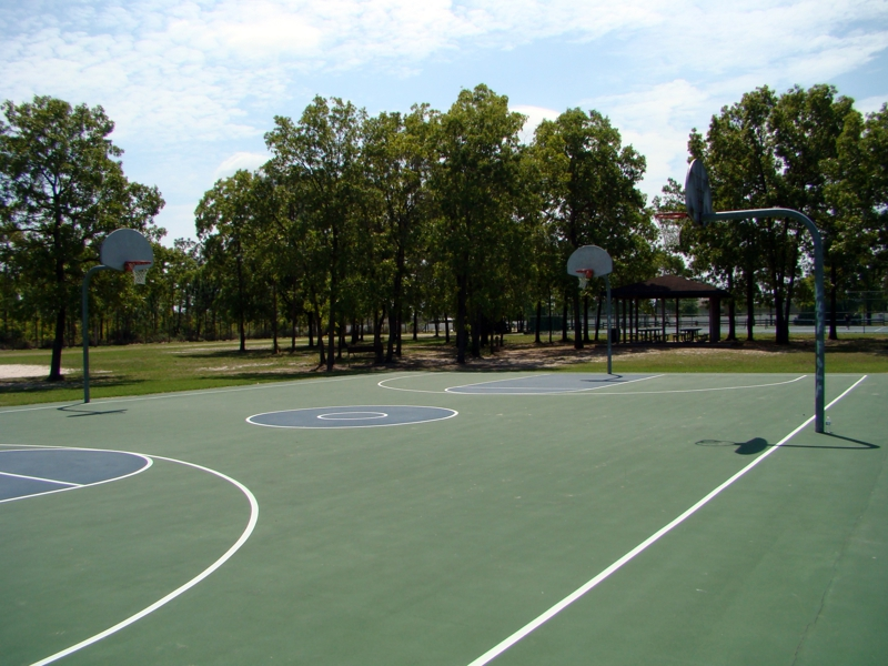 Basket Ball Courts at Ronnie Van Zant Park in Lake Asbury, Green Cove Springs Florida