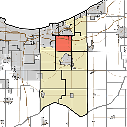 Map courtesy of wikepedia - Liberty township, porter County, NW Indiana