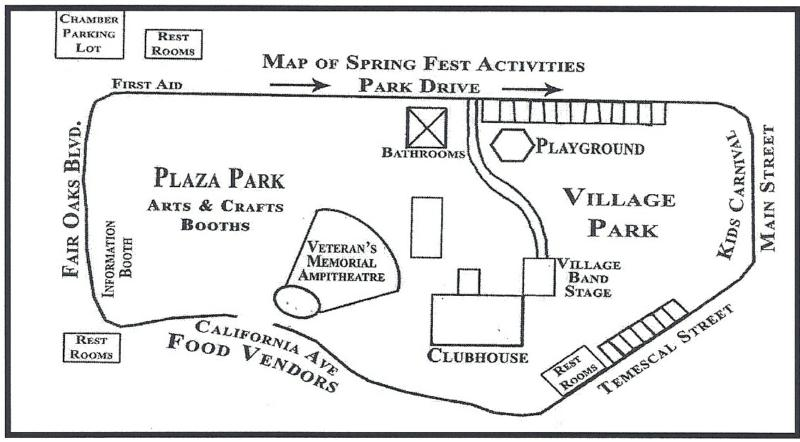Map of Village Park and Plaza Park