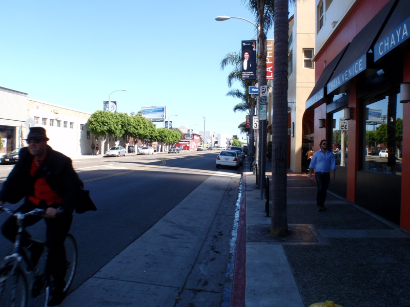 Bicycle rider in venice ca by endre barath