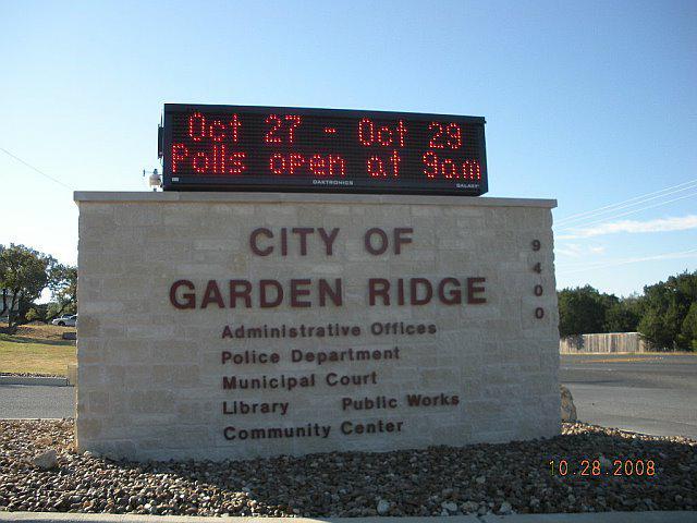 Garden Ridge Texas Cast Your Ballot