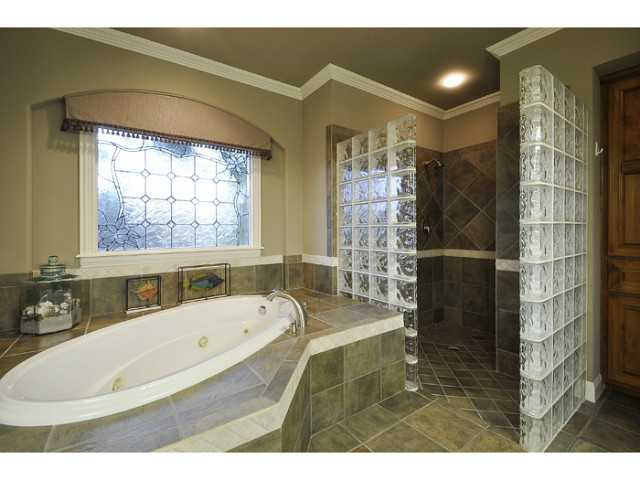 The master bath also include a jetted tub and a separate shower.