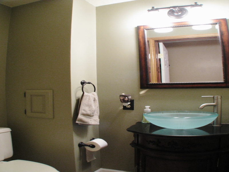 Homes for sale in Reynoldsburg Ohio, View of the remodeled half bath