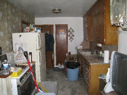 same kitchen with no debris