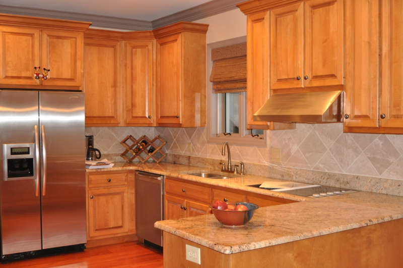 Beautiful 10 acre homestead for sale in the State College ... on Backsplash For Maple Cabinets  id=67537