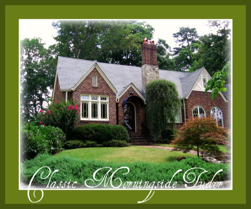 Morningside atlanta real estate tudor style home for sale for Tudor style homes for sale