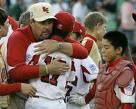 Winning Hug from Coach Mickey Lay