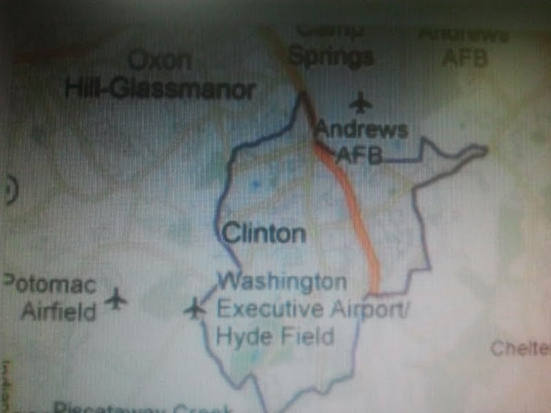 Clinton Maryland Map