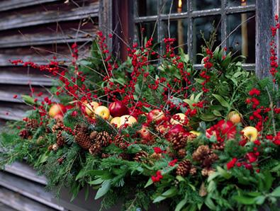Curb Appeal in the wintertime is important, dress up your window boxes to create curb appeal