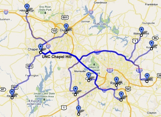 Best Places to Live Near UNC Chapel Hill | The University of North Carolina at Chapel Hill