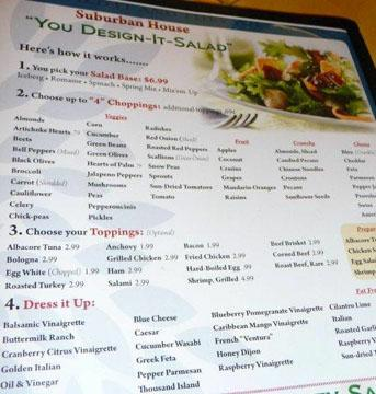 Design your salad sign