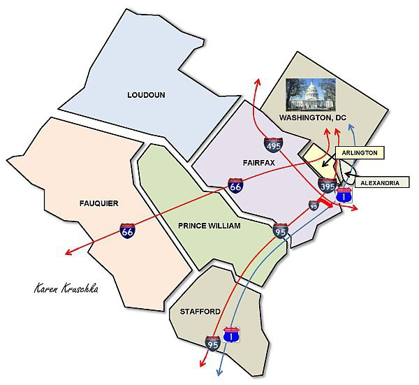 Northern Virginia Map