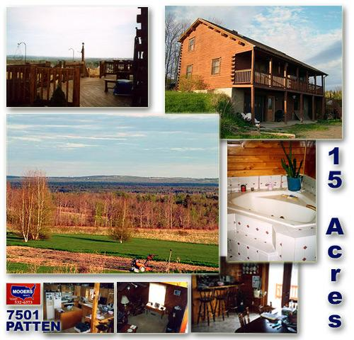 15 Acres In Patten Maine With 2 Bath Log Home!