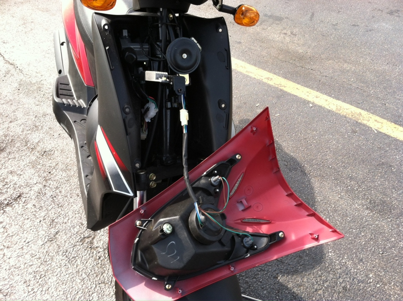 Changing the headlight on my Kymco
