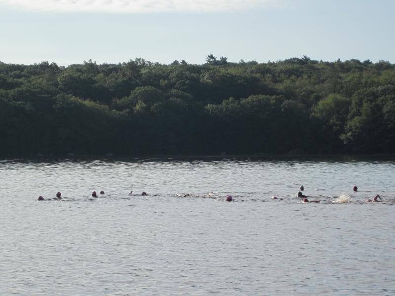 Swimmers Hopkinton State Park Triathlon
