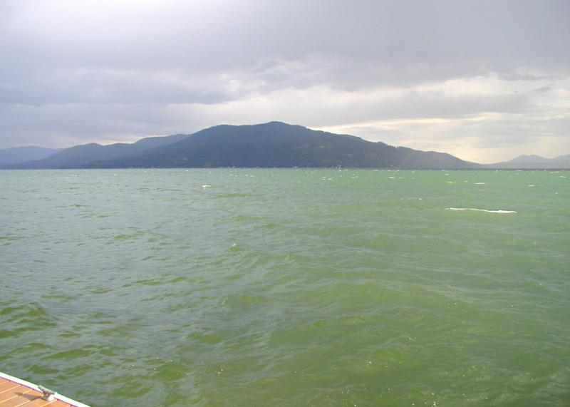 LAKE PEND OREILLE WITH GOLD HILL IN THE DISTANCE