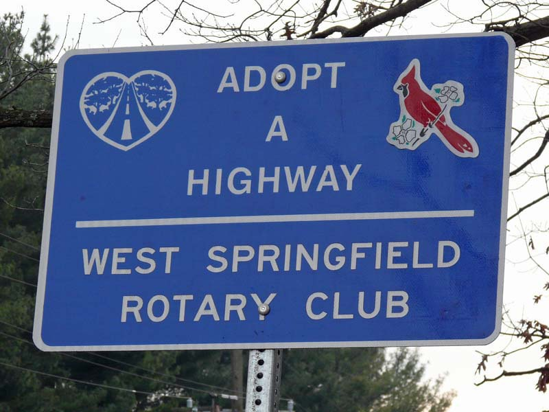 Adopt A Highway Sign