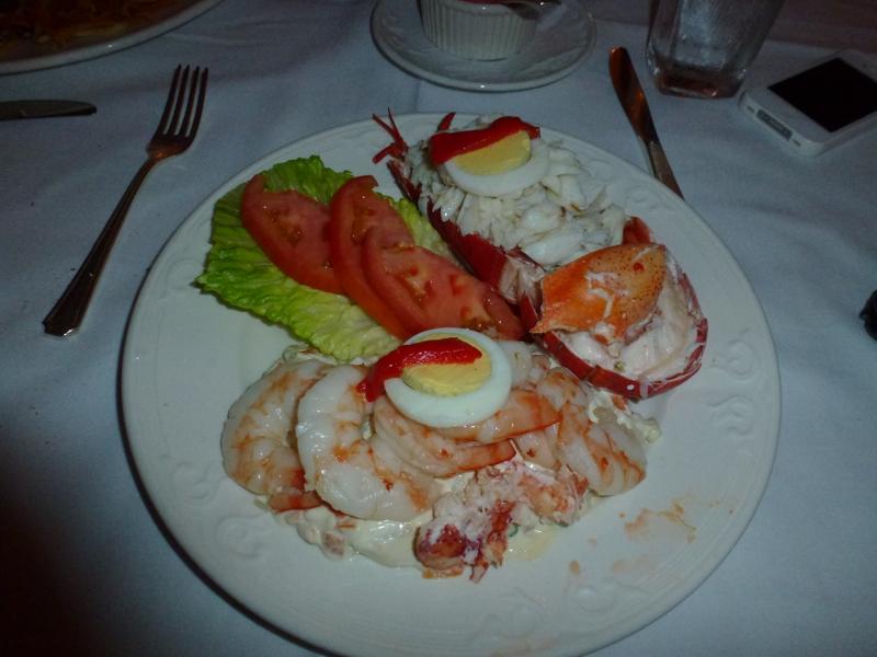 Tio Pepes Seafood Salad Lunch