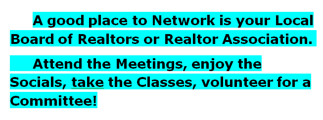 Network at Your Local Board of Realtors