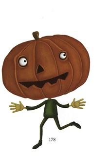 Halloween Pumpkin head with body