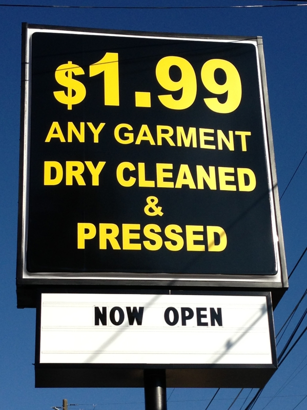 EZ One Price Cleaners $1.99 Dry Cleaning Buckhead now open - Picture copyright of Michelle Francis, Buckhead Realtor
